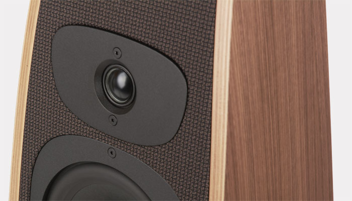 The Twist Select loudspeaker detail that shows the tweeter