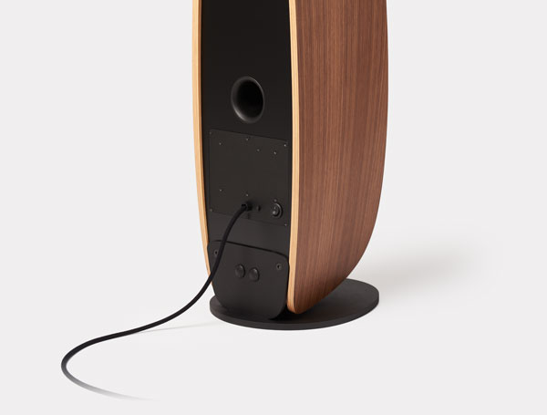 The beautiful back of the Moxie loudspeaker